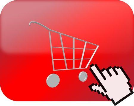 shopping card button Stock Photo
