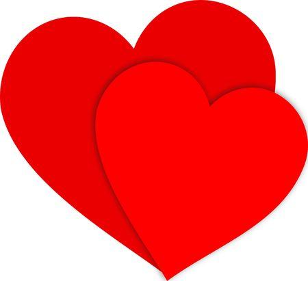 Ilustraci�n de dos corazones