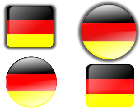 germany buttons  Stock Photo