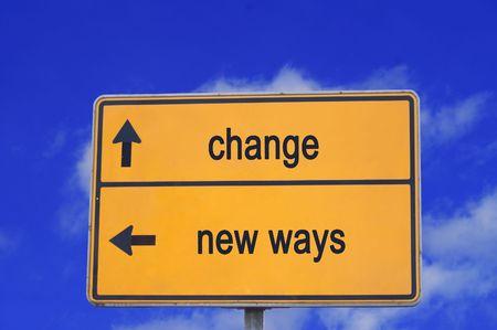 road sign change