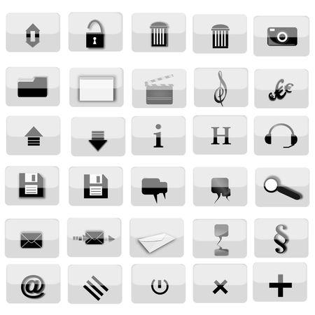 varios iconos para sitios Web Foto de archivo