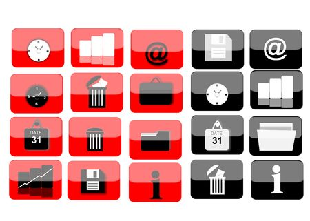 several web icons