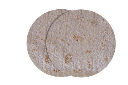 two tortilla wraps Stock Photo