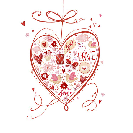 wooing: Love heart. Design element.Save the date background. Vintage background. Hand drawn.Love heart design. Valentine day card. I love You card. Love poster.Romantic concept. Wedding card.