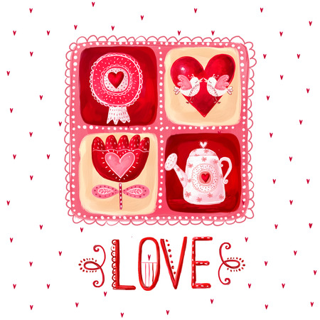 グリーティング カードが大好きです。デザイン要素。日付背景を保存します。ヴィンテージ背景。バレンタイン背景。ハートのデザインが大好きで
