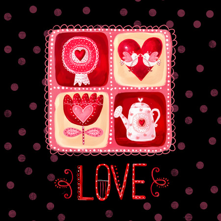 wooing: Love greeting card. Design element.Save the date background. Vintage background. Valentine background.Love heart design. Valentine day card. I love You card. Love poster