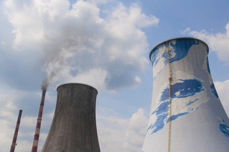cooling tower: Thermal-electric power plant - cooling tower