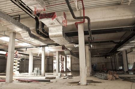 duct: Construction site of new retail centre