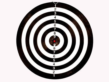 Dart Board Isolated on White background, Setting challenging business goals And ready to achieve the goal concept. 免版税图像