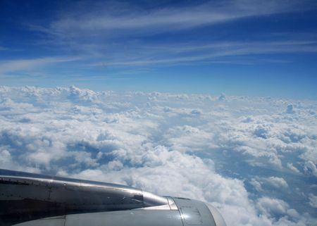 cloud drift: aircraft in the clouds roaming