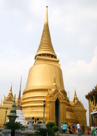 temple of the emerald buddha in thailand photo