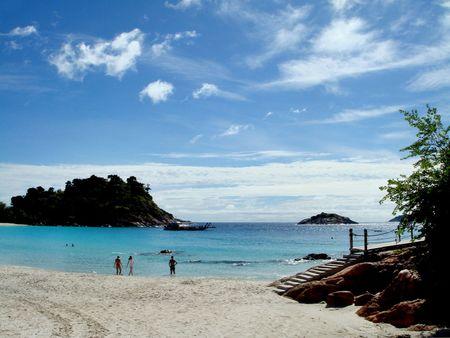 pulau: beautiful beach at pulau redang, malaysia                             Stock Photo
