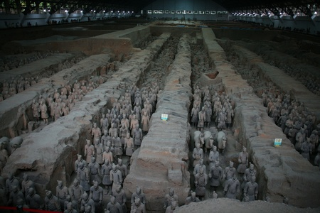 qin: Qin terra-cotta warriors and horses Figurines in Xi an, China