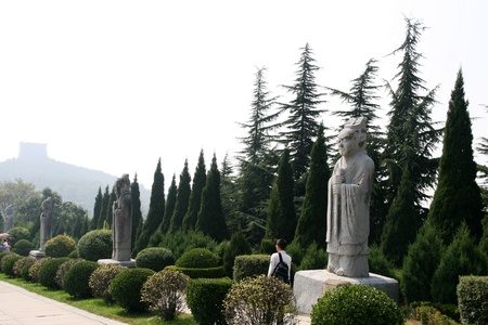 ancient relics: Qianling Mausoleum in Xi an,China