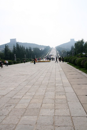 mausoleum: Qianling Mausoleum in Xi an,China