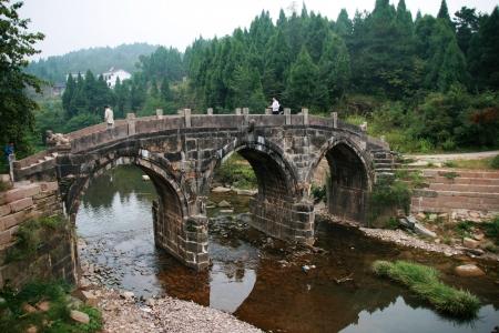 ancient stone bridge in Jianmen Pass,China