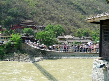 scenic spots: the Luding iron bridge-the famousA famous  scenic spots in China
