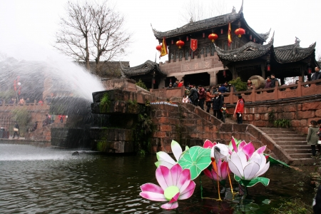 the old town in Chengdu of China