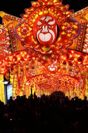 the lantern show in zigong of chengdu inchina in 2014