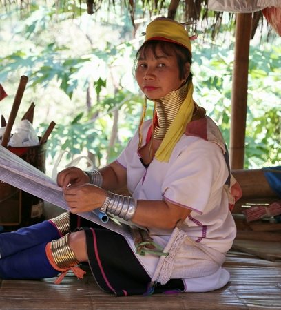 minority: long necked minority in chiang mai,thailand Editorial