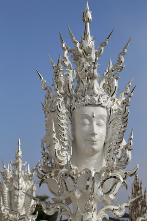 archtecture: The white temple in Chiang Rai,thailand