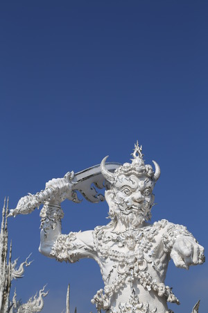 archtecture: the sculpture in the white temple in Chiang Rai,thailand