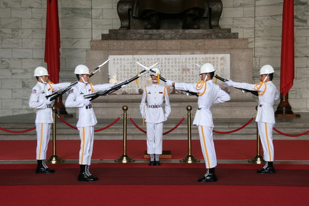 handover: taipei zhongzhengtang soldiers handover ceremony in taiwan