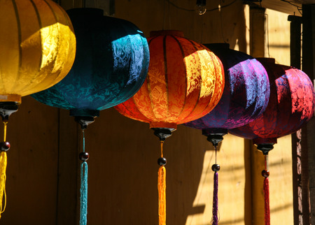 hoi an: the lantern in hoi an ancient town,vietnam Stock Photo