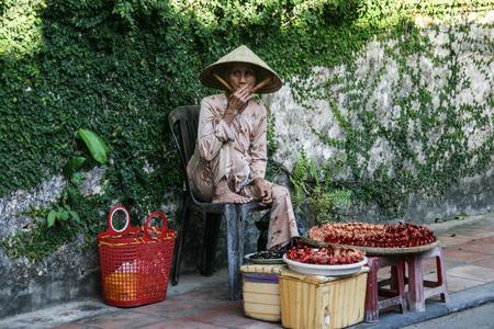 handscraft: the handicraft seller in hoi an ancient town,vietnam