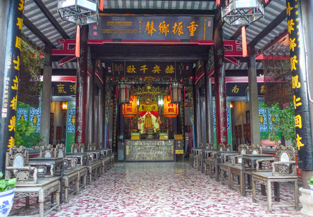 hoi an: the temple in Hoi An ancient town,vietnam