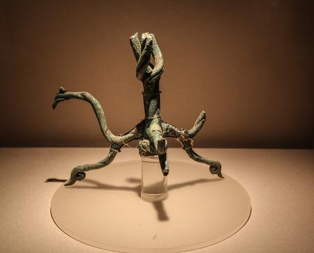 articles: bronze articles in sanxingdui museum,sichuan,china Editorial