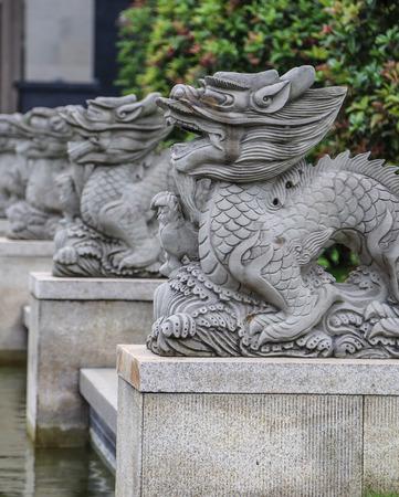 stone lion: stone lion in chengdu,china