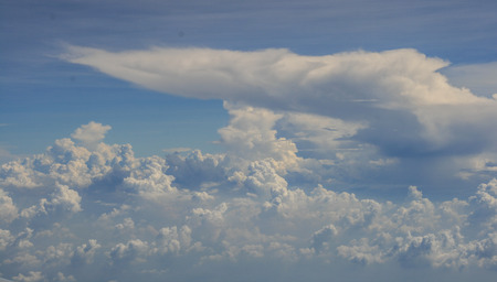 cloud drift: blue sky and clouds