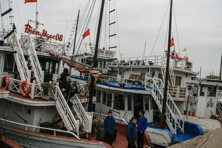 long bay: the cruisers in ha long bay,vietnam Editorial