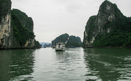 long bay: Ha Long Bay in Vietnam Stock Photo
