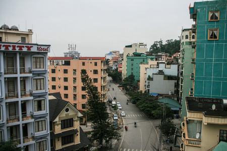 long bay: street view in ha long bay,vietnam
