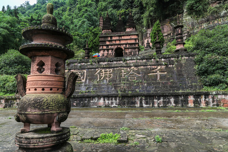 grooves: the stone tower in fish shoal grooves,sichuan,china