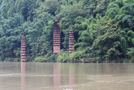 grooves: stone tower in fish shoal grooves,sichuan,china