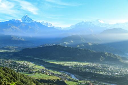 pokhara: the landscape  in pokhara,nepal