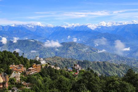 네팔 나가 르꼬에서 잡은 에베레스트 스톡 콘텐츠