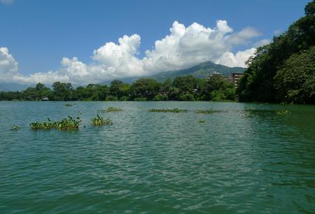 watt: the landscape on the fee watt lake,pokhara,nepal