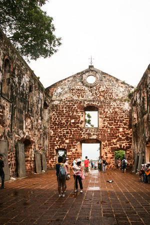 places of interest: st.paul church, malacca, malaysia,