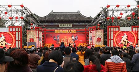 chengdu: 2015 temple fair in chengdu, china Editorial