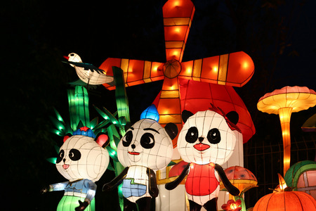 중국 2015 청두 등불 축제 에디토리얼