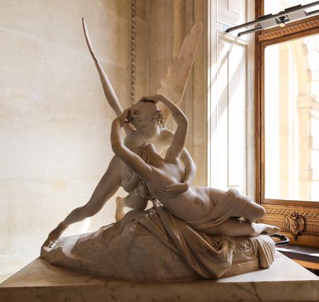 plaster of paris: Sculpture in the Le Louvre Museum, Paris, France Editorial