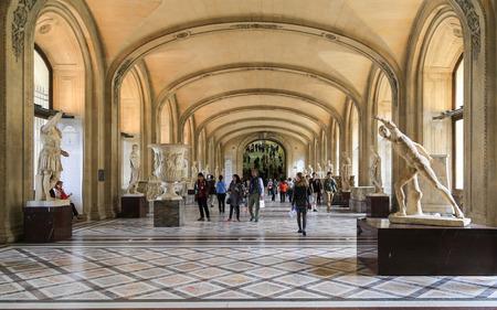 Le Louvre Museum, Paris, France Editorial