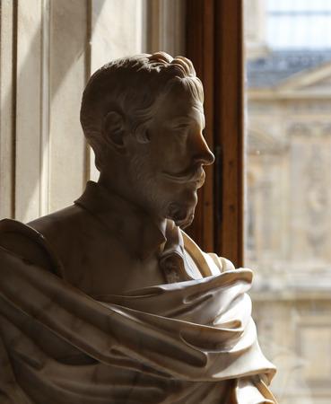 Sculpture in the Le Louvre Museum, Paris, France Editorial