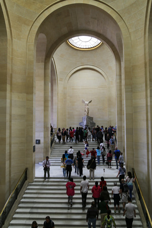 Tourists in the Le Louvre Museum, Paris, France Editorial