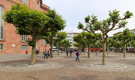 frankfurt: the street view in frankfurt,germany