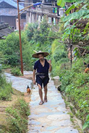 village man: man in ba Sha miao village ,guinzhou province,china